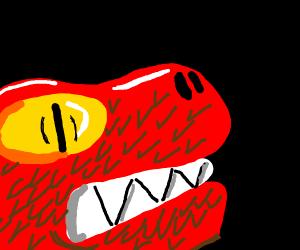 A Chinese dragon and an European dragon - Drawception