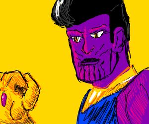 Thanos, but he isn't bald