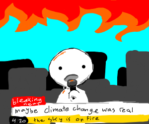 global warming- there's fire in the sky
