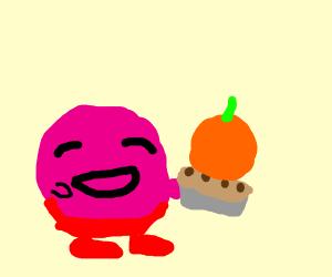 kirby makes a pumpkin pie