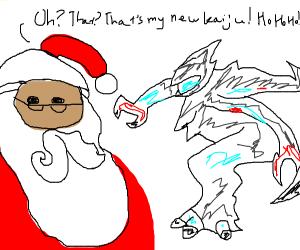 Santa Claus Adopts a Kaiju