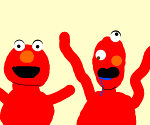 Elmo and his special brother Blelmo