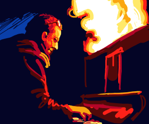 Playing pianos filled with flames