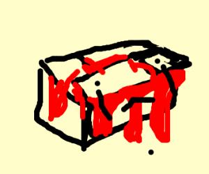 weird box thats bleeding