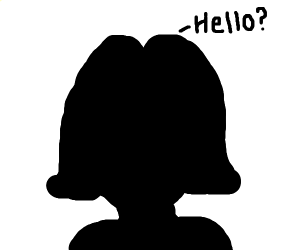 Silhoute of a girl saying hello?