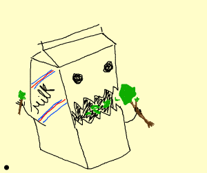 Carton eating paint