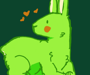 Green rabbit