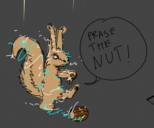 Squirrel's possesed after attemptin 2 get nut