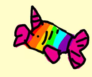 rainbow unicorn fish