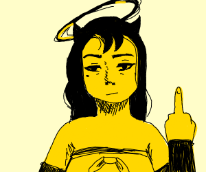 Alice Angel( from BATIM) flipping you off