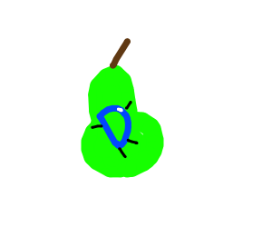 Drawception on a pear