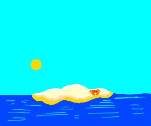crab on deserted island