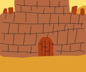 Castle in a desert
