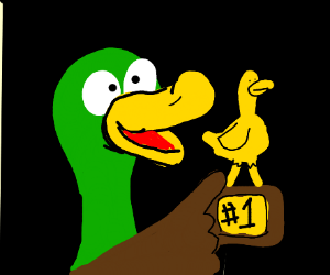 Duck wins trophy for being #1 Duck