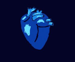 Human Heart but Blue