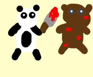 Panda abusing bear