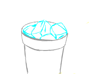 Ice (in a cup)