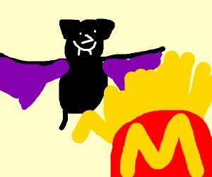 A Bat That Loves McDonalds Fries