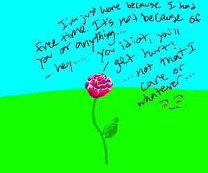 a tsundere flower
