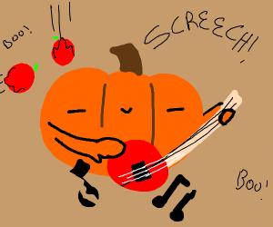 The pumpkin definitely can't play banjo