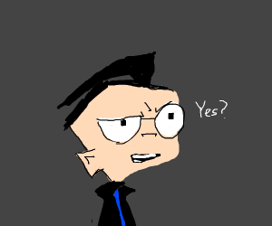 Dib (Invader Zim) answers yes/no question