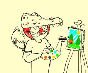 Alligator crossed with Painter