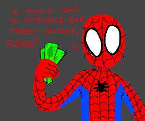 spiderman buys drugs
