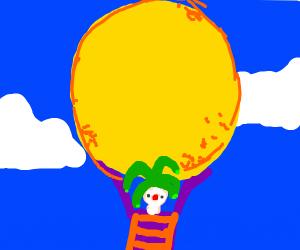 jester holding the sun