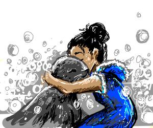 Girl and seal reunite