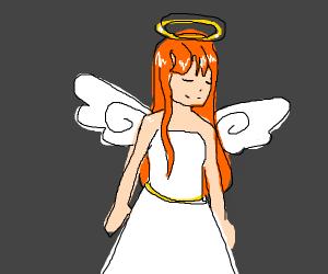 angel with orange hair