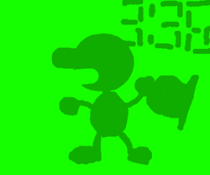 Green Mr game and watch
