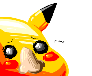 Pikachu but with a human nose