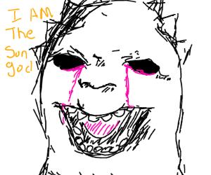 the sun god is crying purple tears