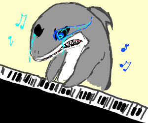 Shark Playing Megalovania on The Piano