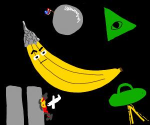 Suspicious banana