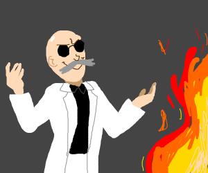 Blaine(Pokemon) started a fire