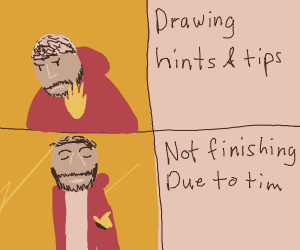 Draw a panel you've seen in hints and tips