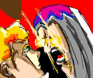 Abbacchio And Giorno Fighting