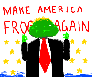 Trump with a frog head