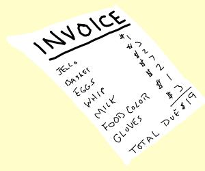 Invoice note