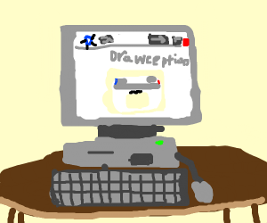 Drawception on the desktop computer