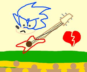 blue hair rockstar bashes heart