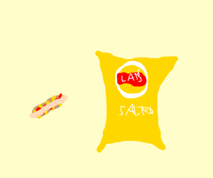 Hot dog and Lays