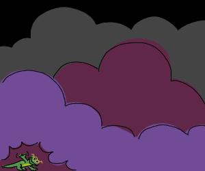 Nerd lizard with his hidden waves