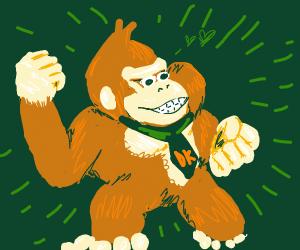 Donkey Kong wears a tie.