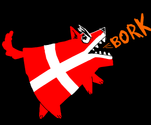 denmark flag goes bork