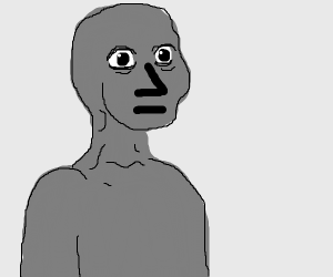Gray NPC guy with human eyes