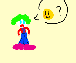 A clown who just wants to be happy