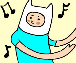 Finn (Adventure Time) dancing