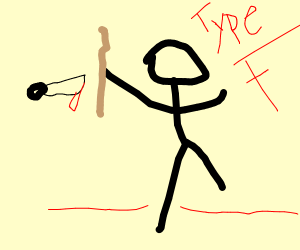Man holding a stick about to get killed.